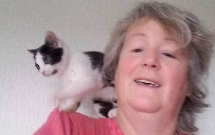 Angela dedicates a large part of her life to caring for abandoned cats.