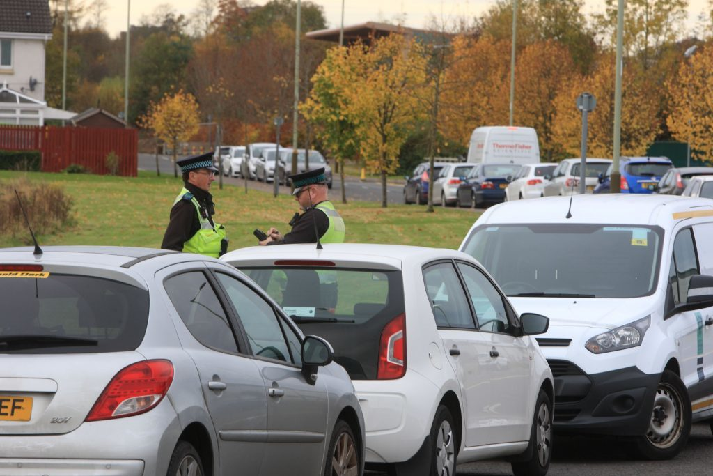Wardens were busy writing tickets in Auld Bond Road in Perth on Wednesday.
