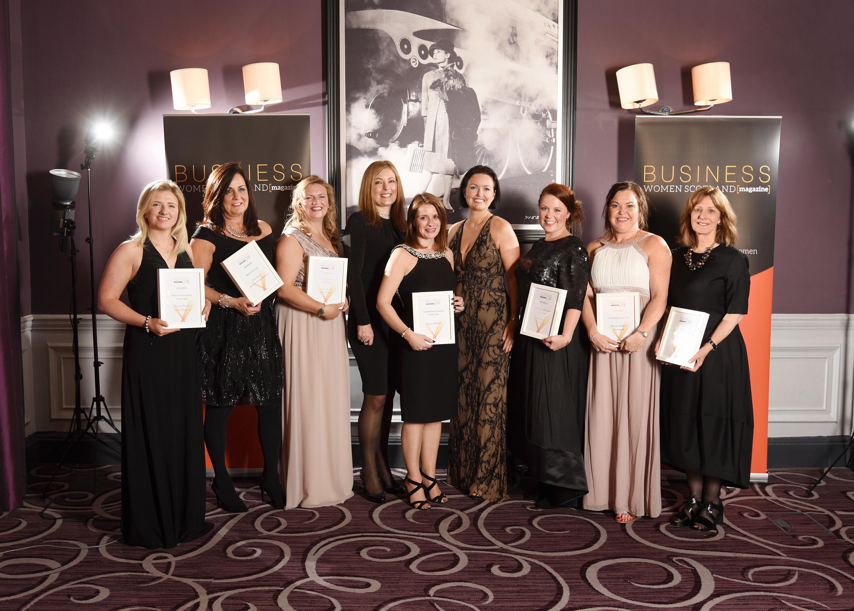 Winners at the Business Women Scotland 2016 awards.