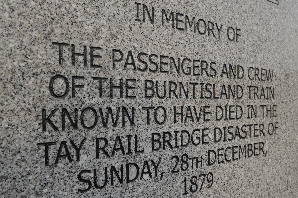Memorial to the victims of the Tay Rail Bridge Disaster in Wormit.