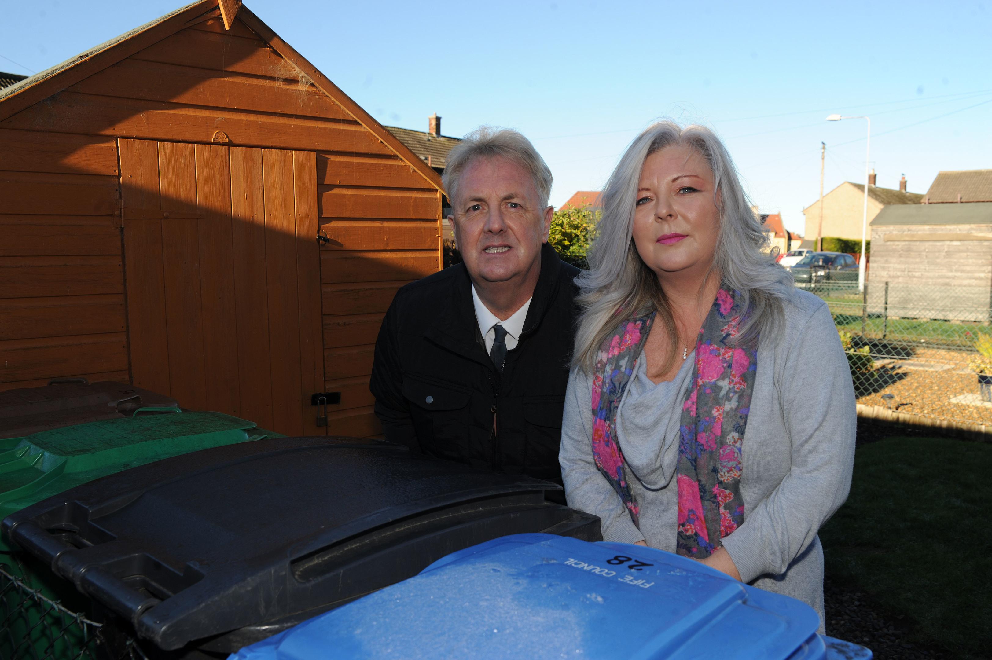 Tracey Richardson and Councillor John O'Brien want rid of the rats.