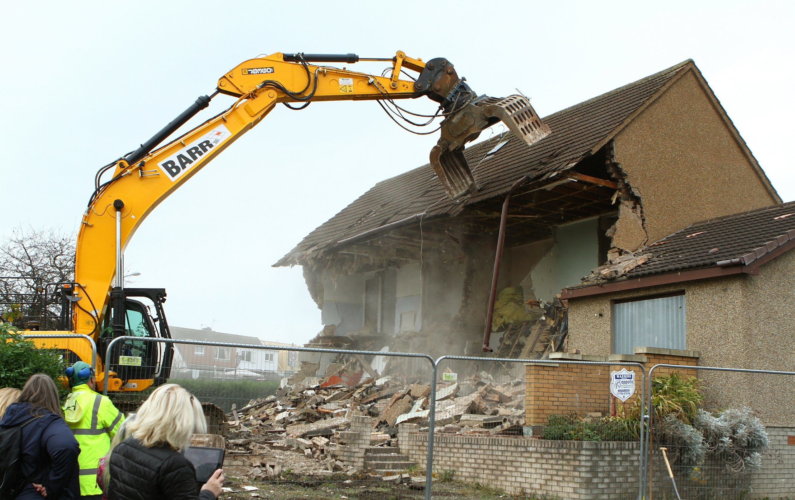 The first two houses were brought down in 2016