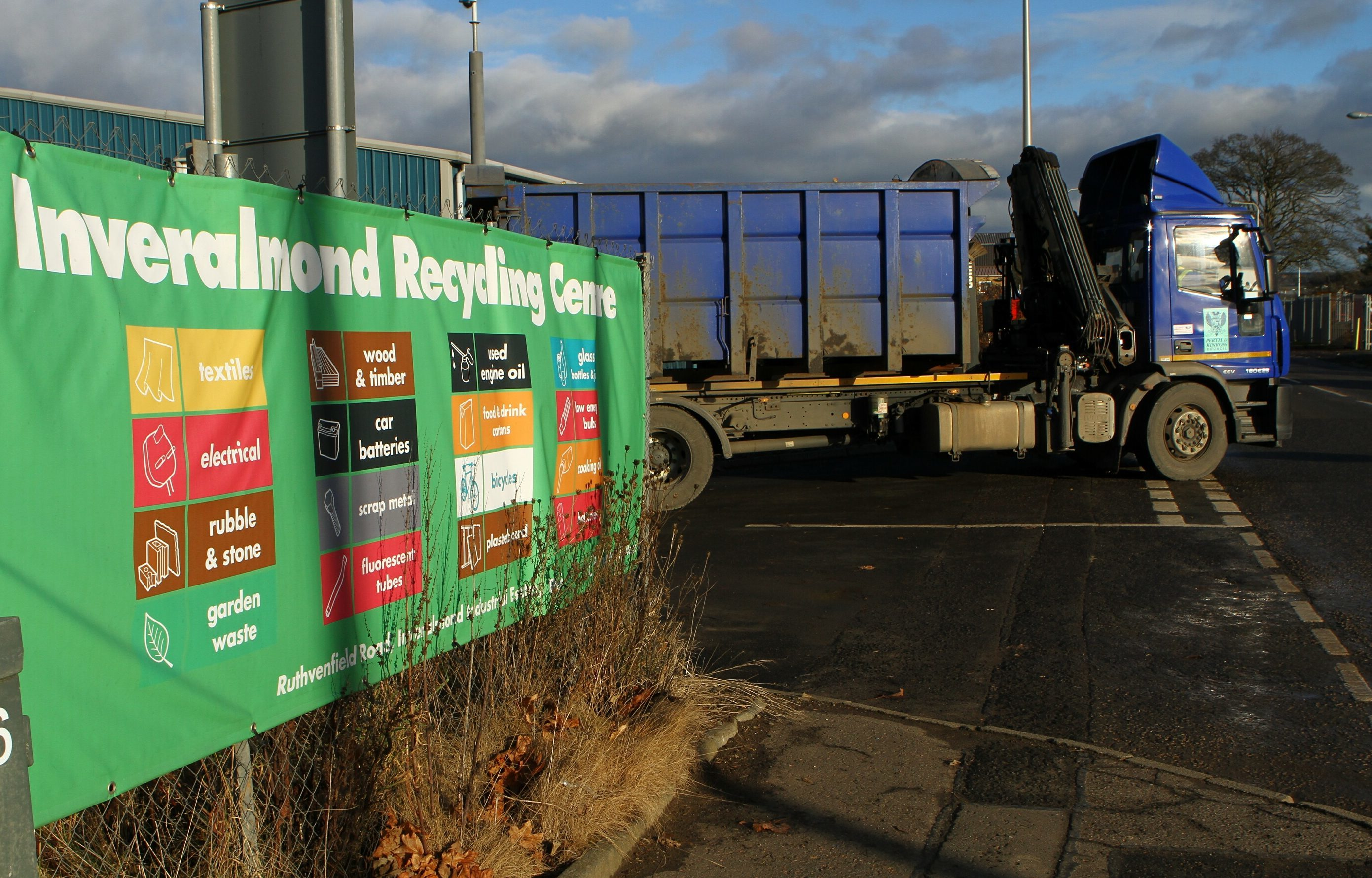 The recycling site at Inveralmond Industrial Estate in Perth.