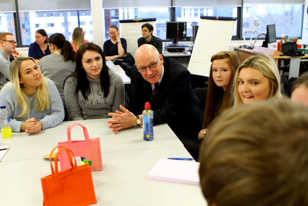 Mr Swinney wants more students to consider a career in teaching.