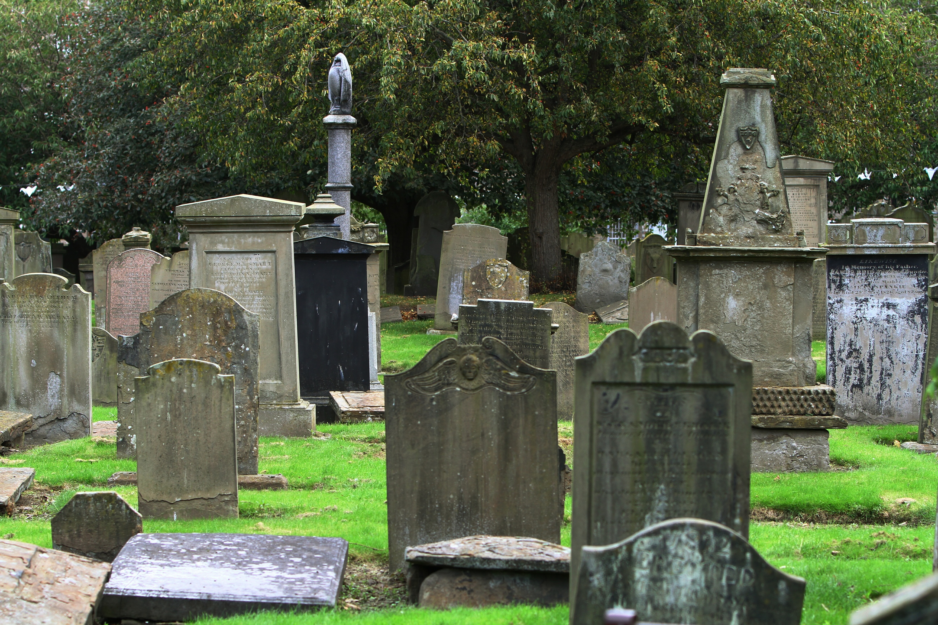 The Howff is one of Scotland's oldest graveyards.