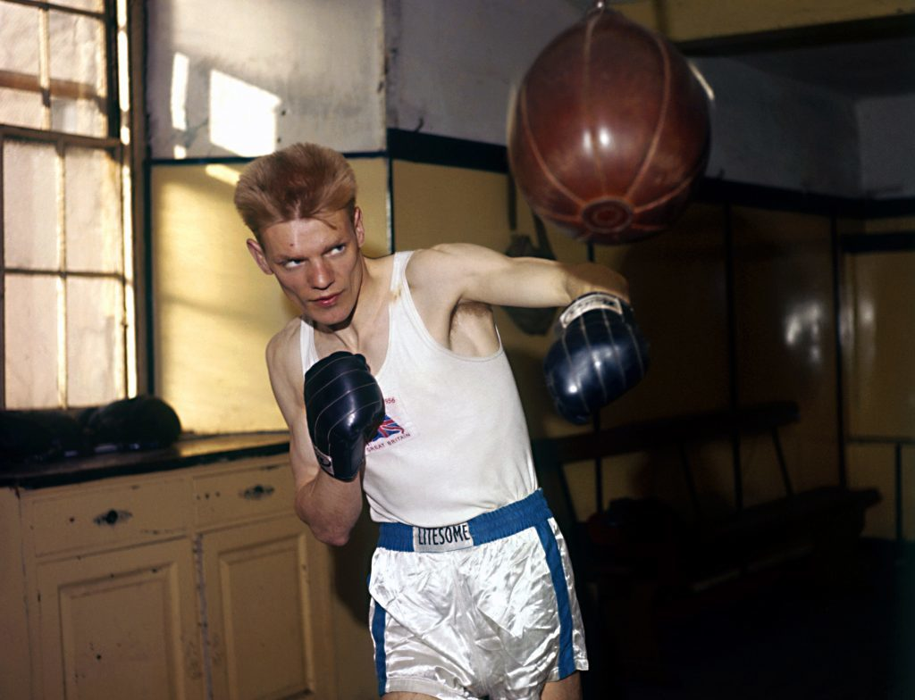 Dick McTaggart in training ahead of the 1956 Olympics