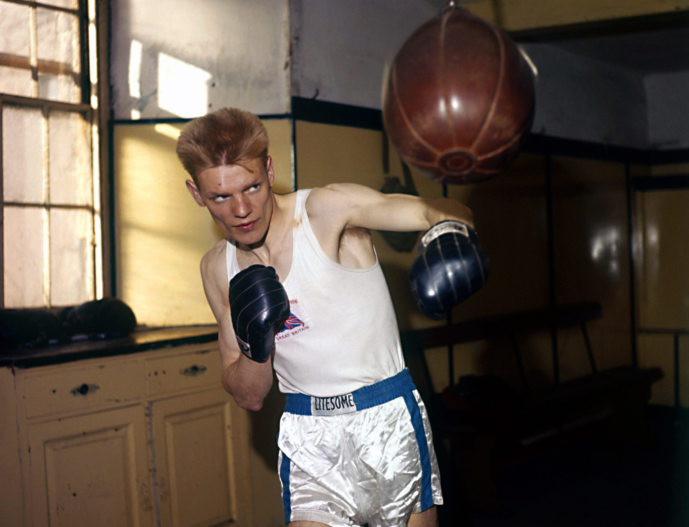 Dick McTaggart in training ahead of the 1956 Olympics.