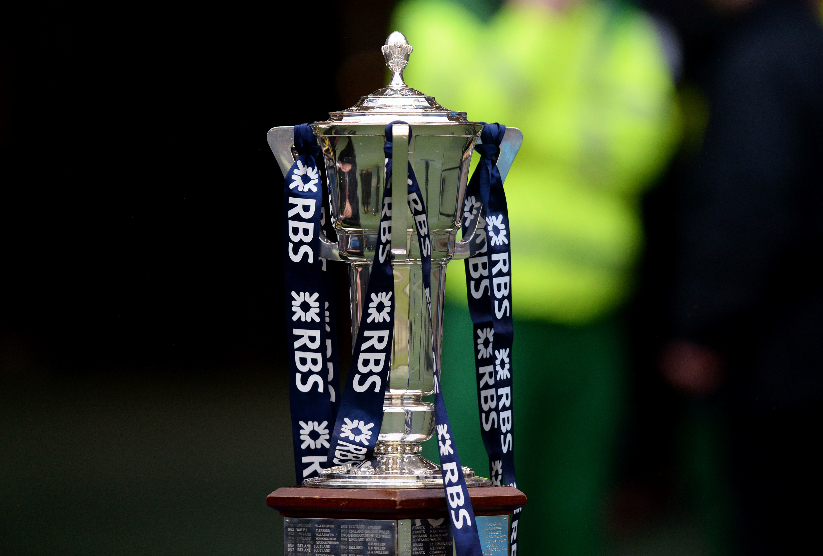 The RBS Six Nations trophy.