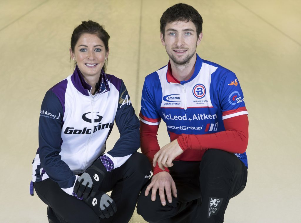 A future mixed doubles partnership? Eve and Glen Muirhead.