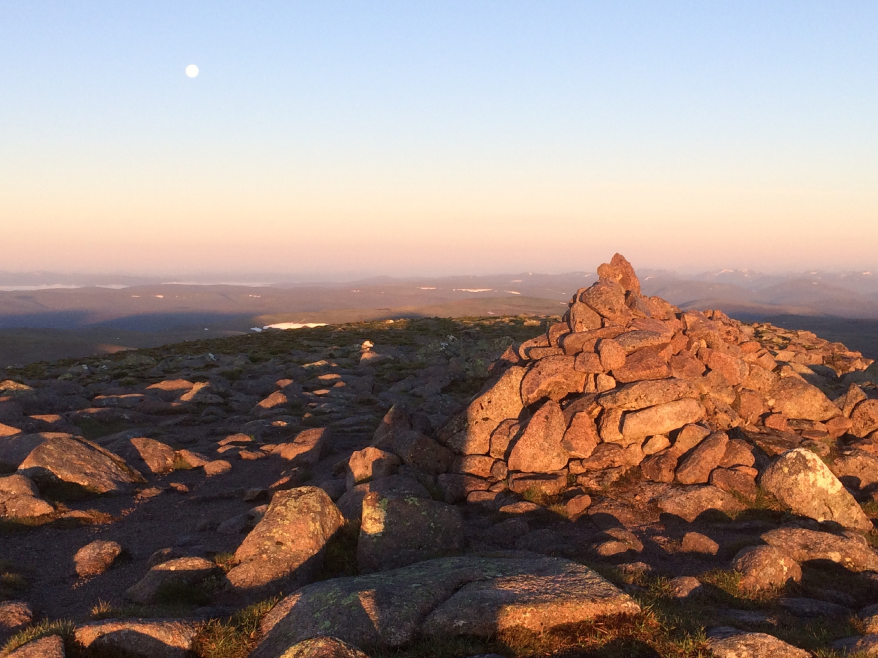 First light from the summit of Angel's Peak.