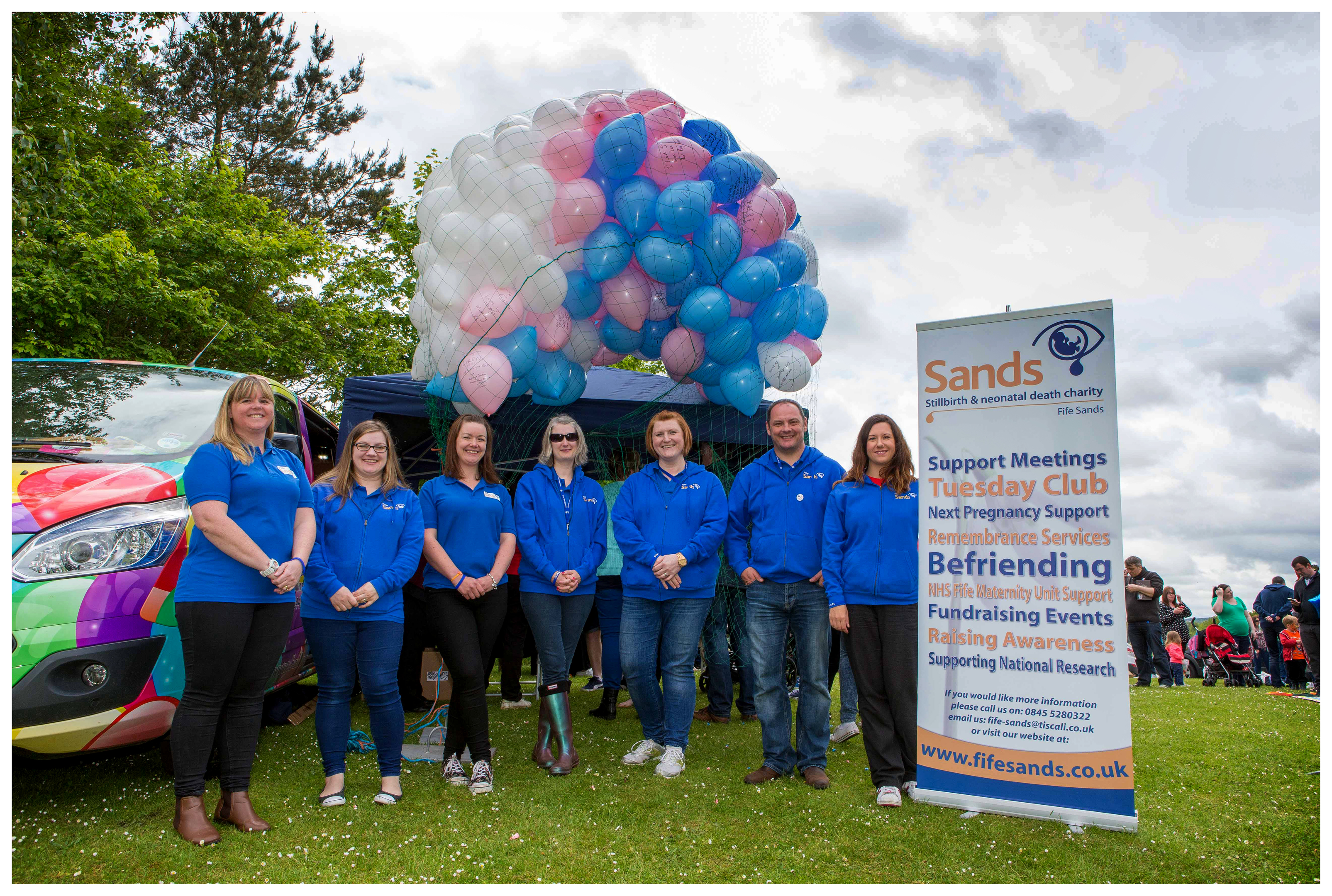 Fife Sands organise a balloon release every year.
