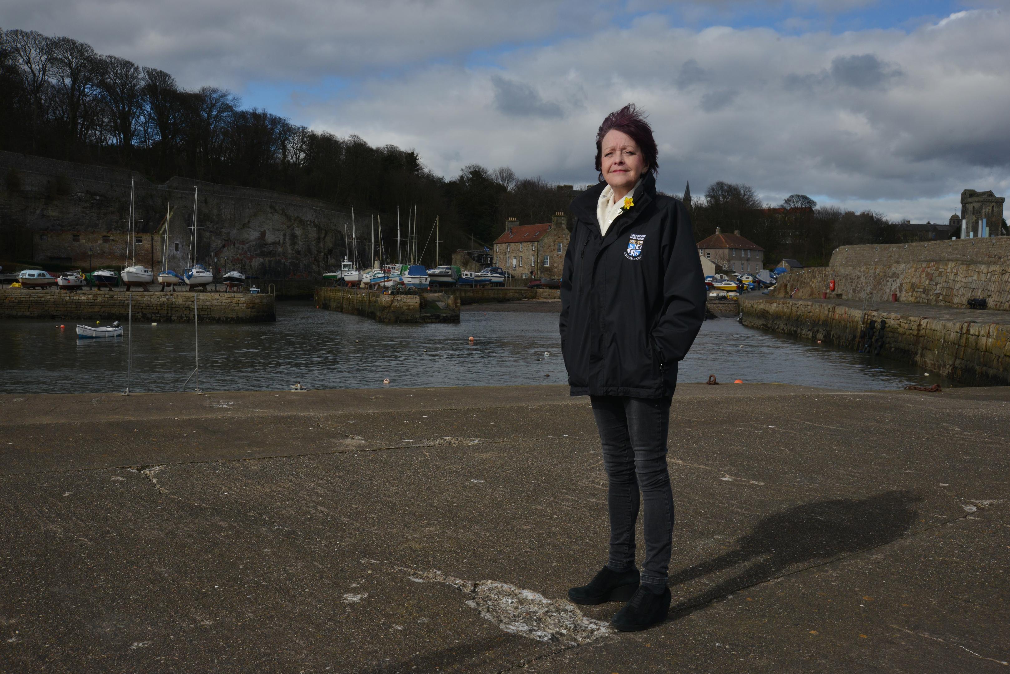 Kirkcaldy councillor Kay Carrington at Dysart Harbour.