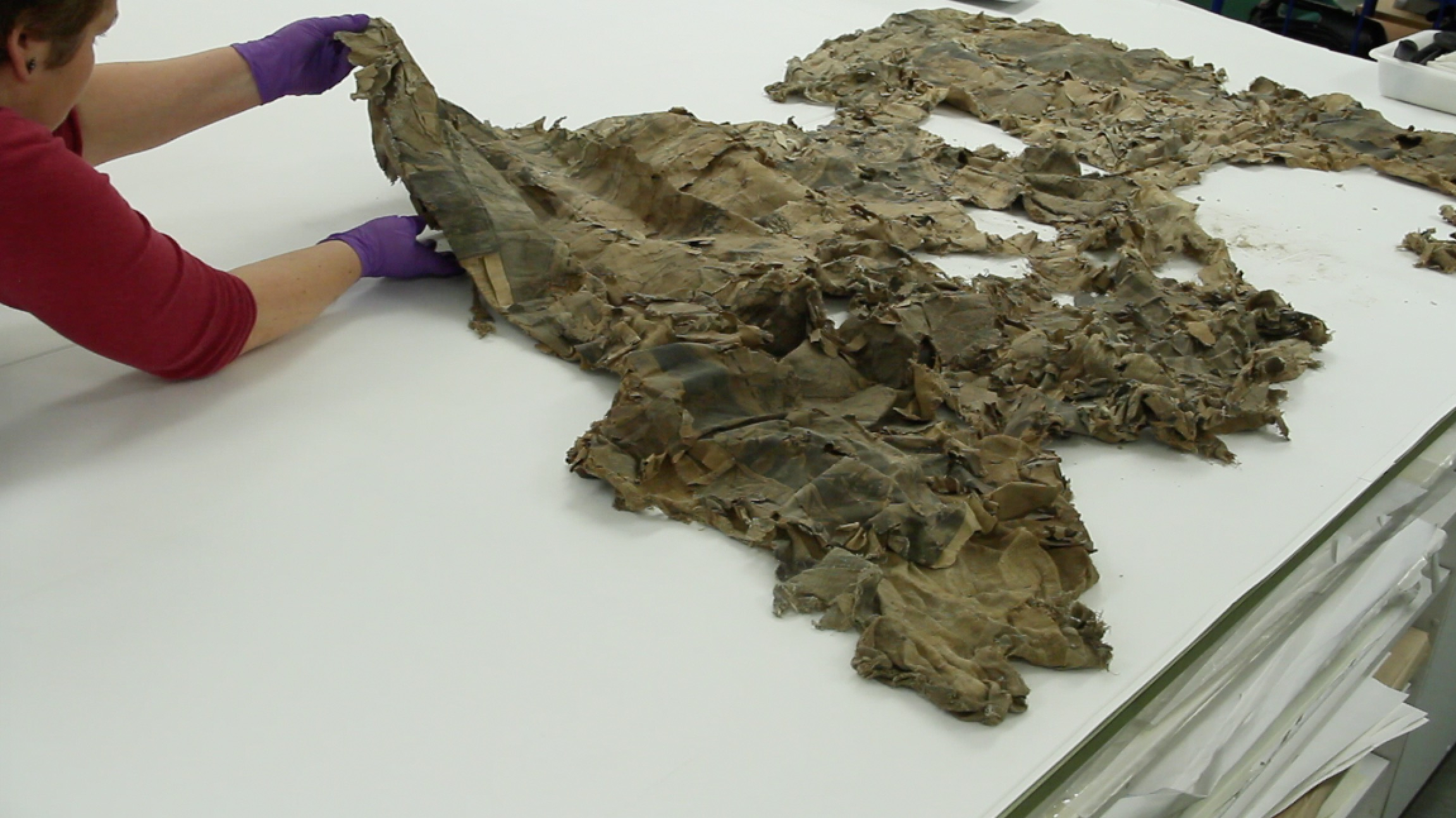 The rare 17th-century map of the world was found stuffed up a chimney.