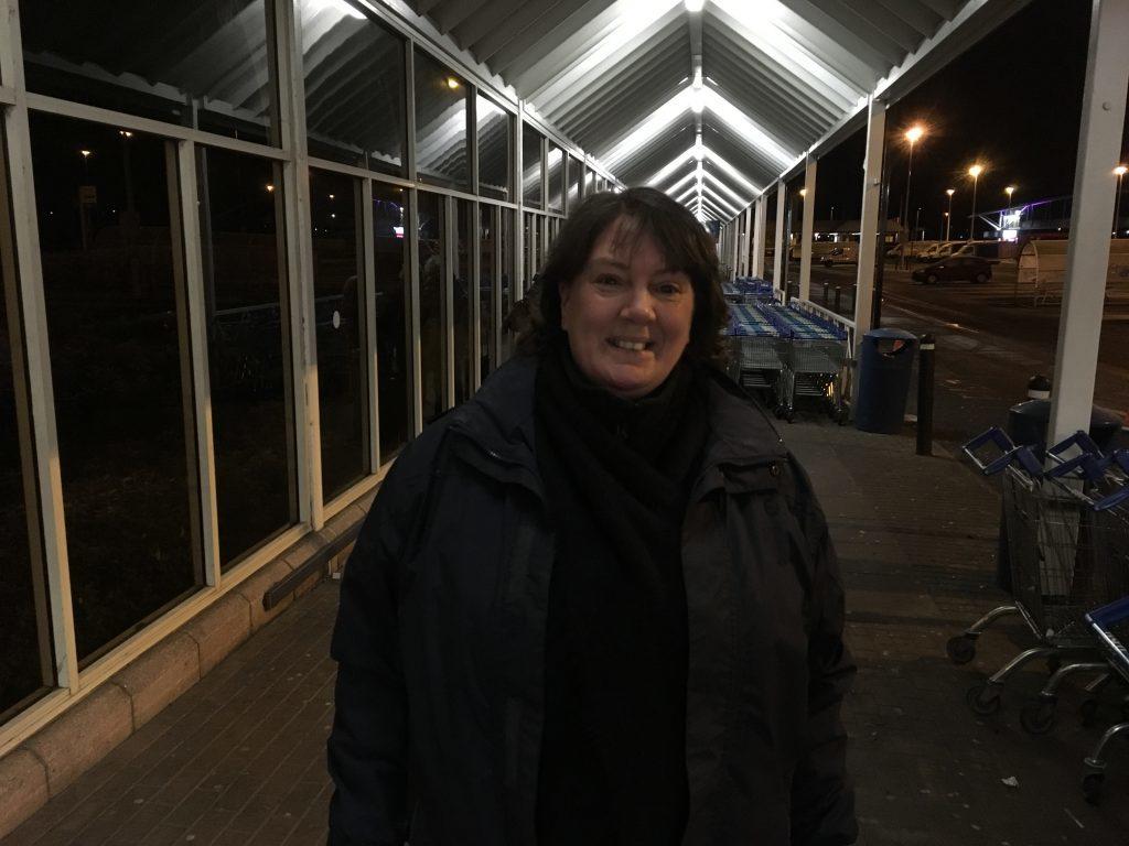 Linda Bennett at Tesco Riverside.