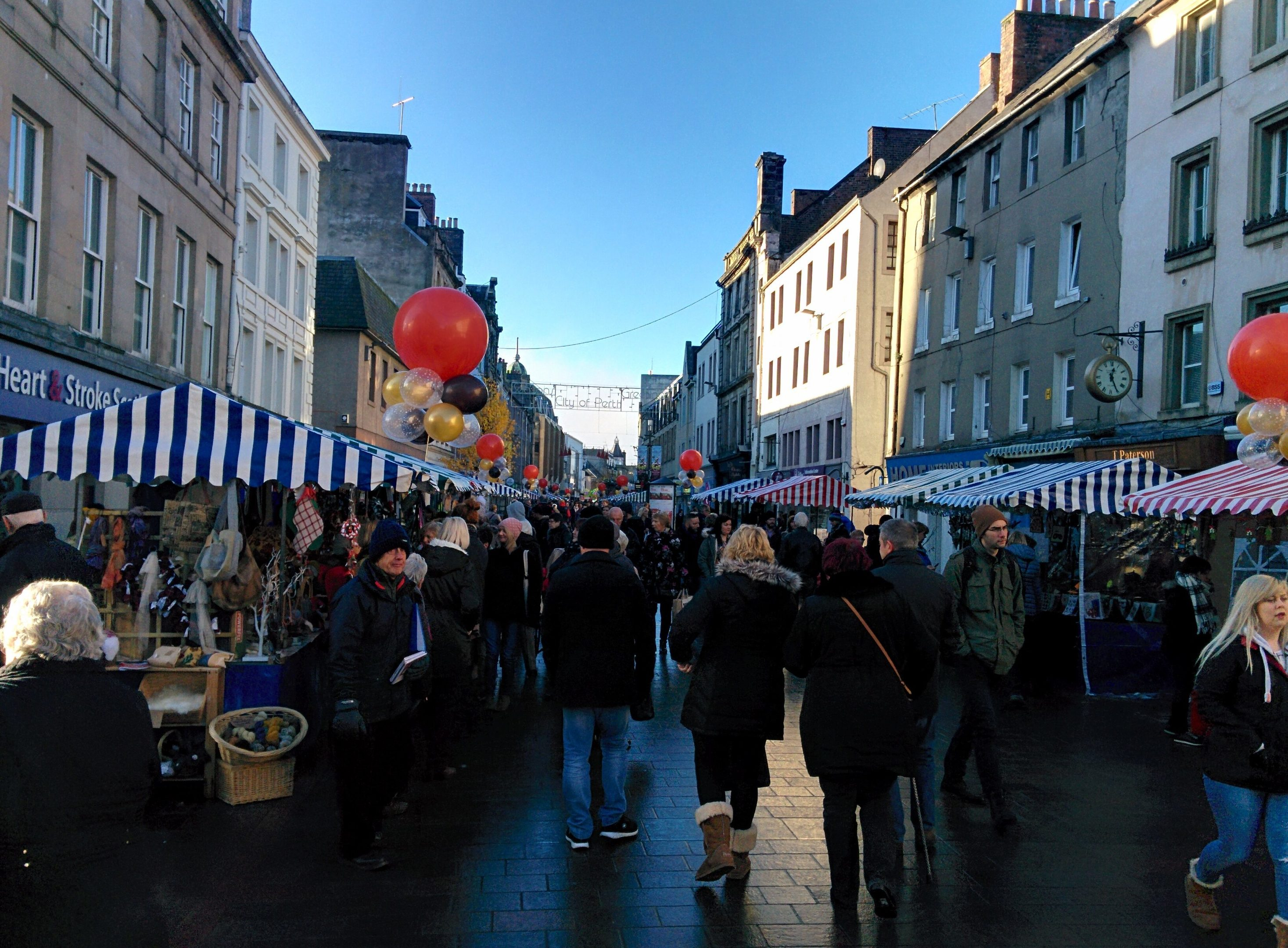 The festival of chocolate in Perth's High Street.