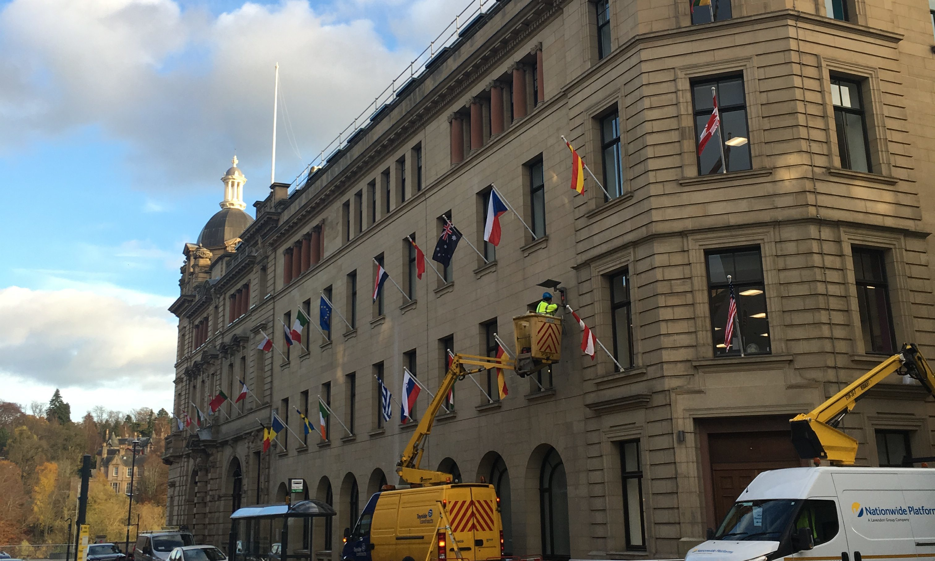 The Union flag is missing from its traditional place at the Perth and Kinross Council HQ.