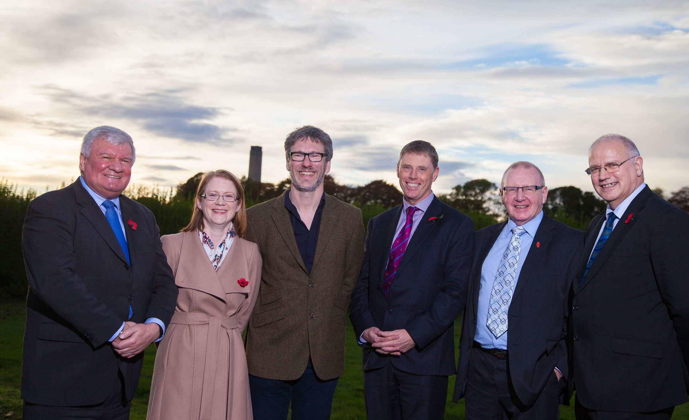 Councillor Bob Young, far right, with other delegates at the launch of the action plan