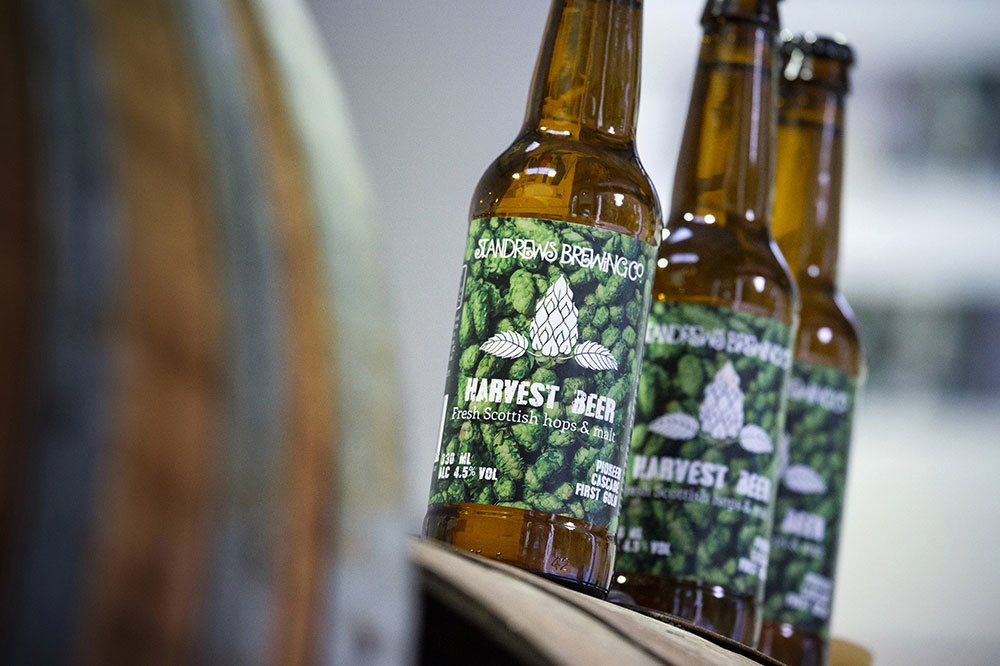 Harvest Beer is made using hops grown in Dundee