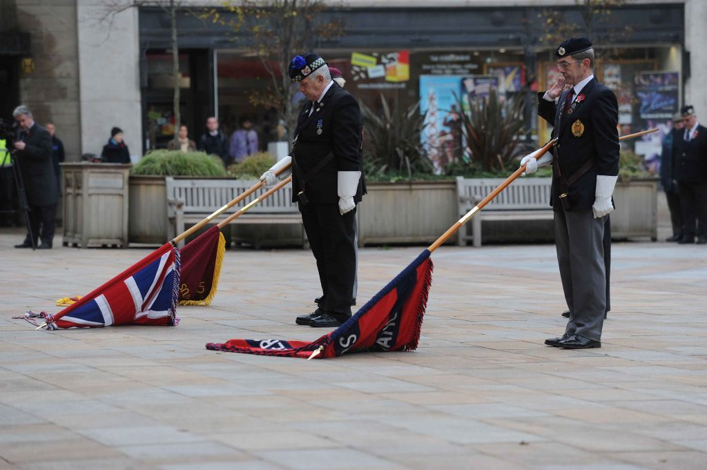 The scene in Dundee City Square.