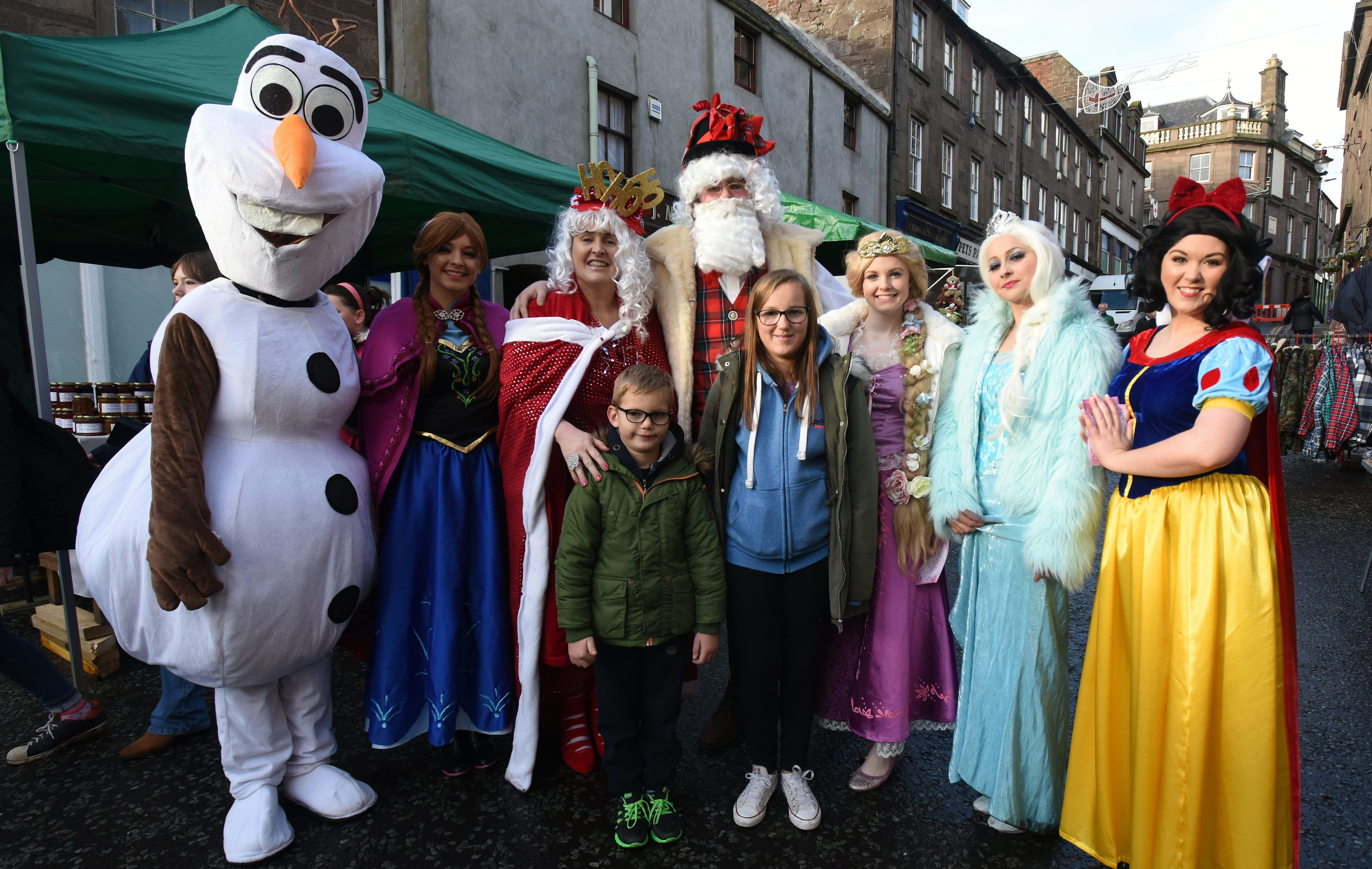 Brechins Christmas celebrations featured Santa with Mrs Claus and Disney characters by Party Wishes with Dalin and Dasha Keith