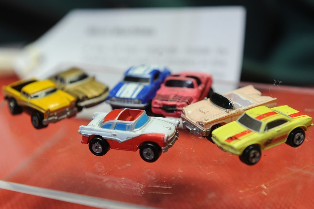 A collection of Micro Machines cars.