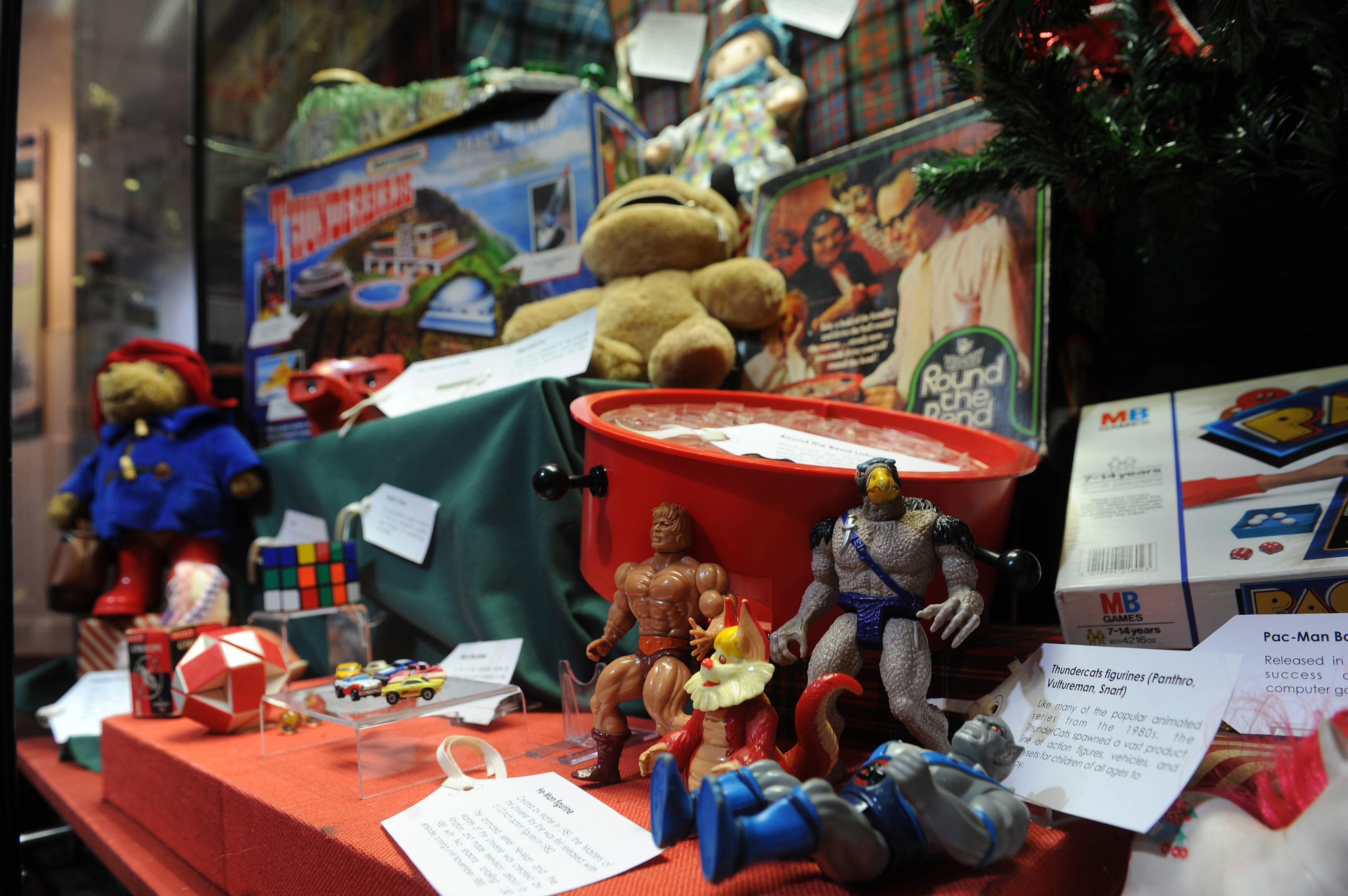 An exhibition of toys from days gone past went on display in the Gateway to the Glens Museum.
