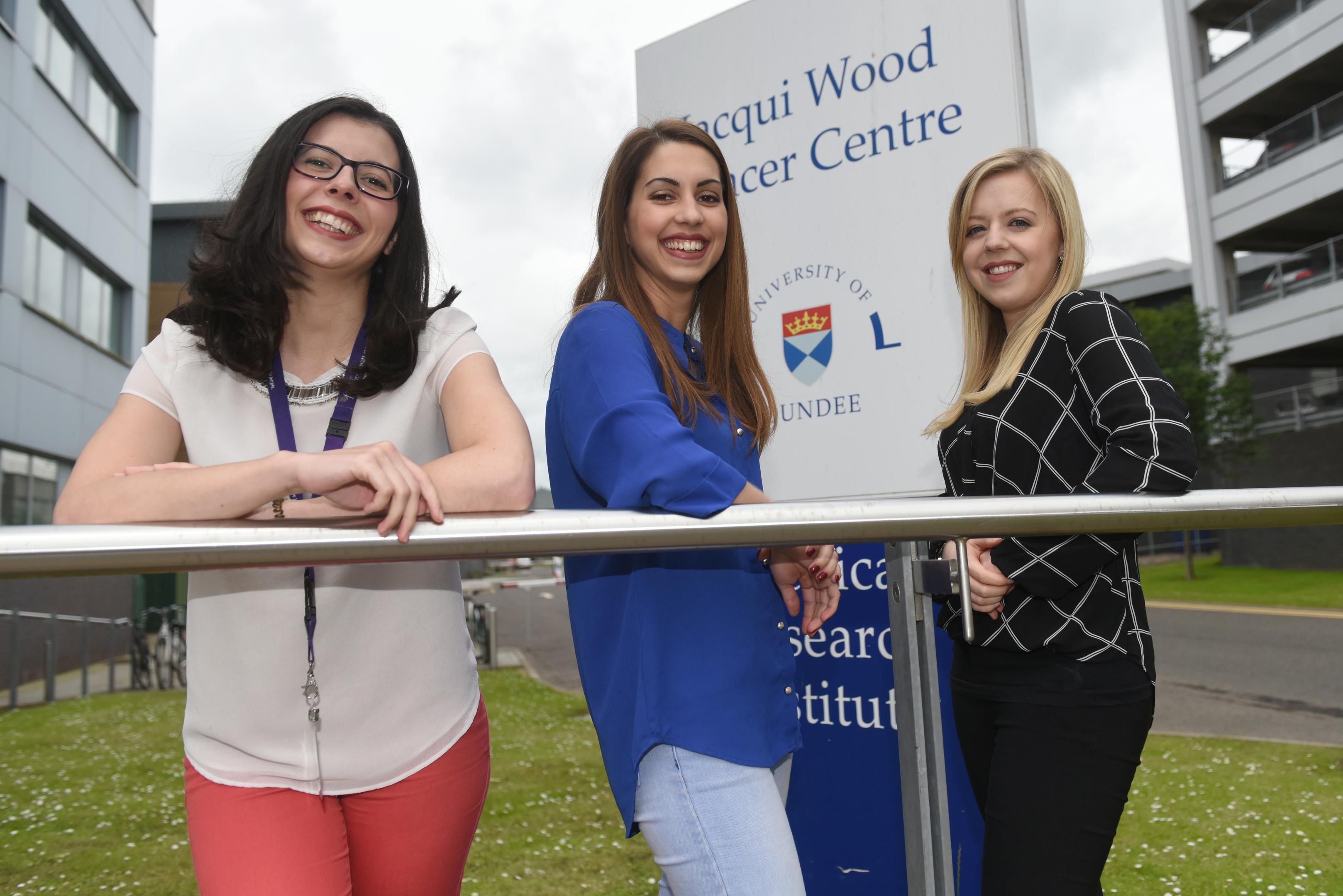 PhD students Laura Torrente, Magda Reid and Morven Shuttleworth.
