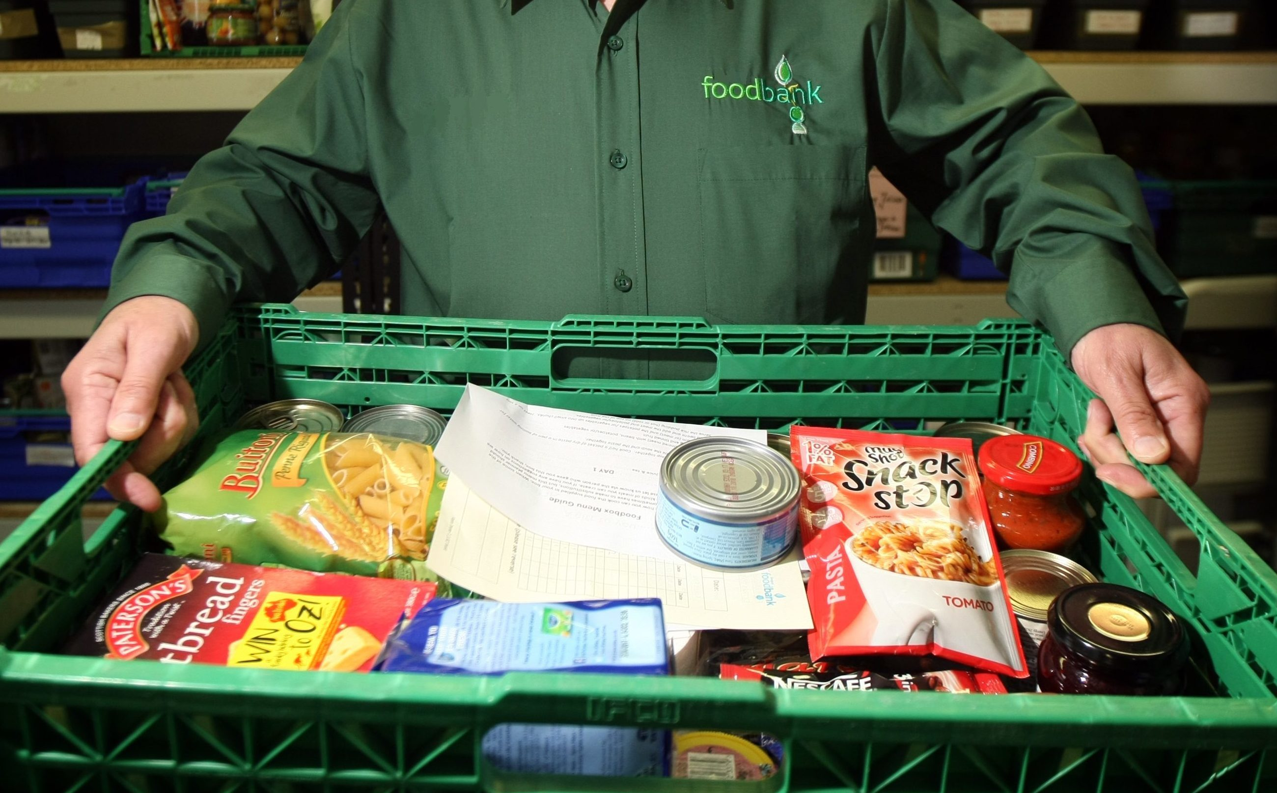 Demand at foodbanks is increasing