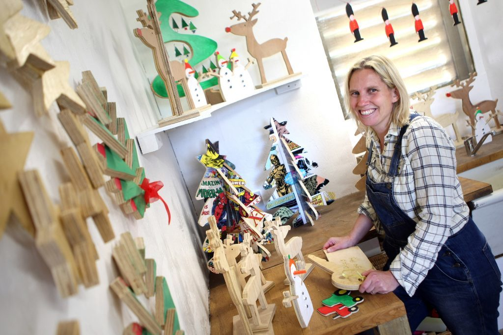 Ellen has been busy in her workshop ahead of her pop-up Christmas fair at Drumtogle Farm