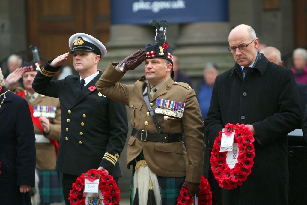 The ceremony at the Mercat Cross in Perth.