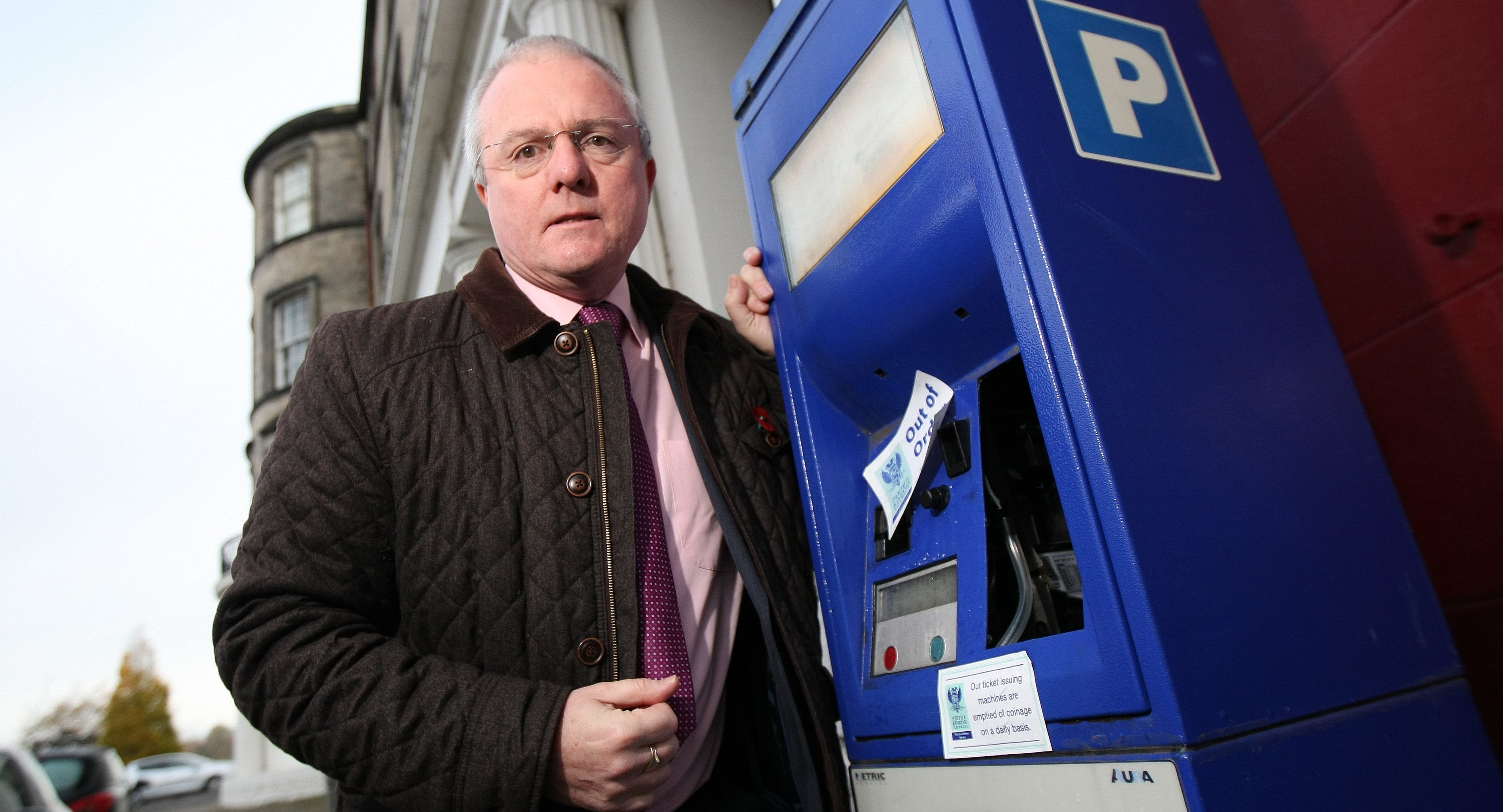 Councillor Peter Barrett thinks the destruction may be an attempt to get at cash