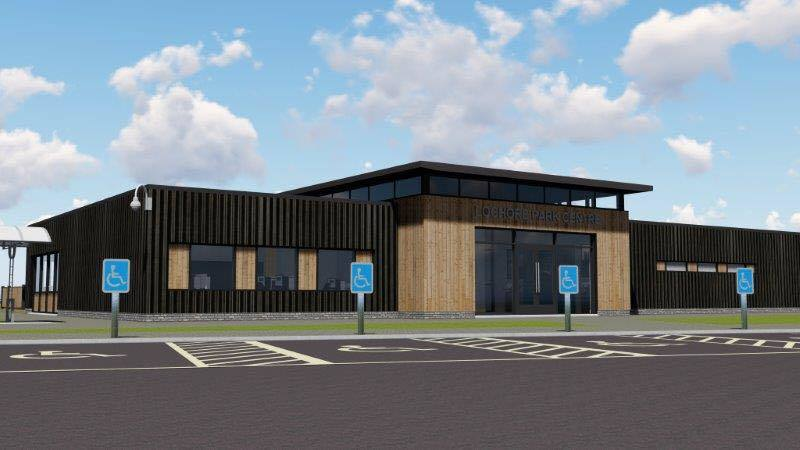 An artist's impression of the proposed new visitor centre.