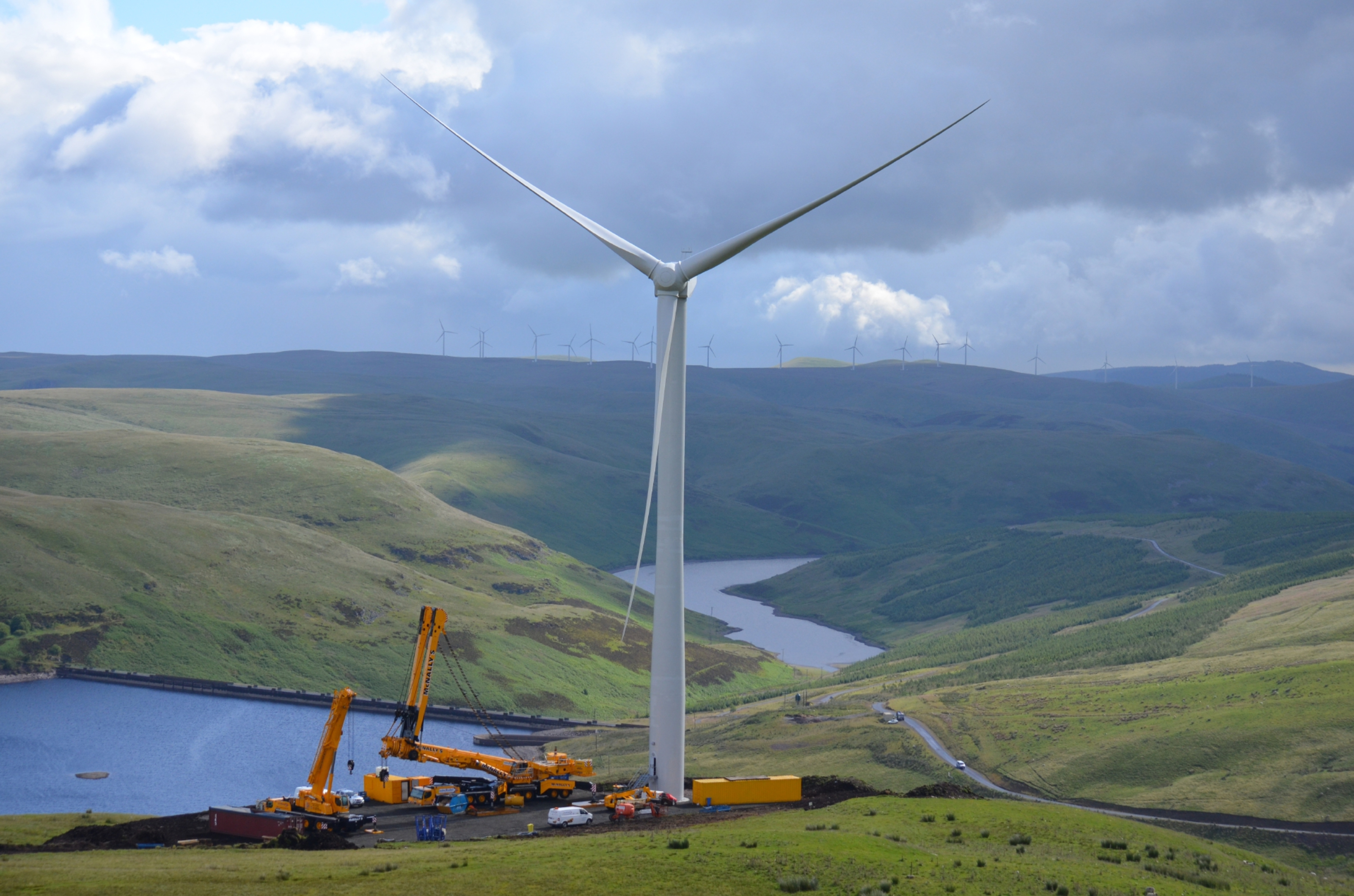 The John Muir Trust has agreed that industrial development -  such as the turbines of the Burnfoot Hill wind farm, near Blackford - is damaging the tourism industry.