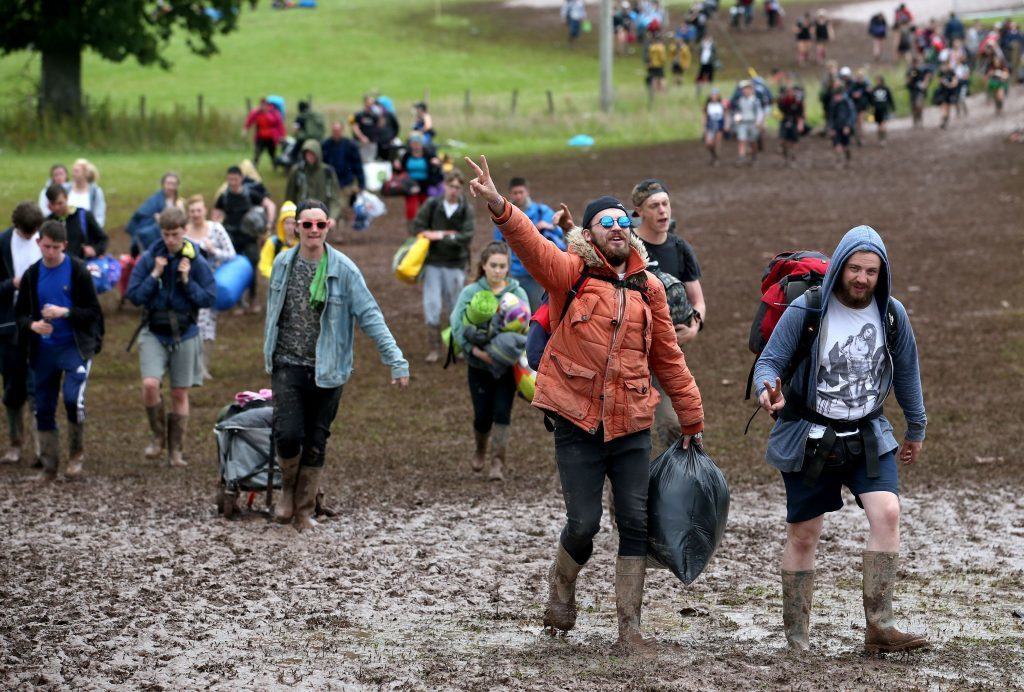 T in the Park campers exit the site