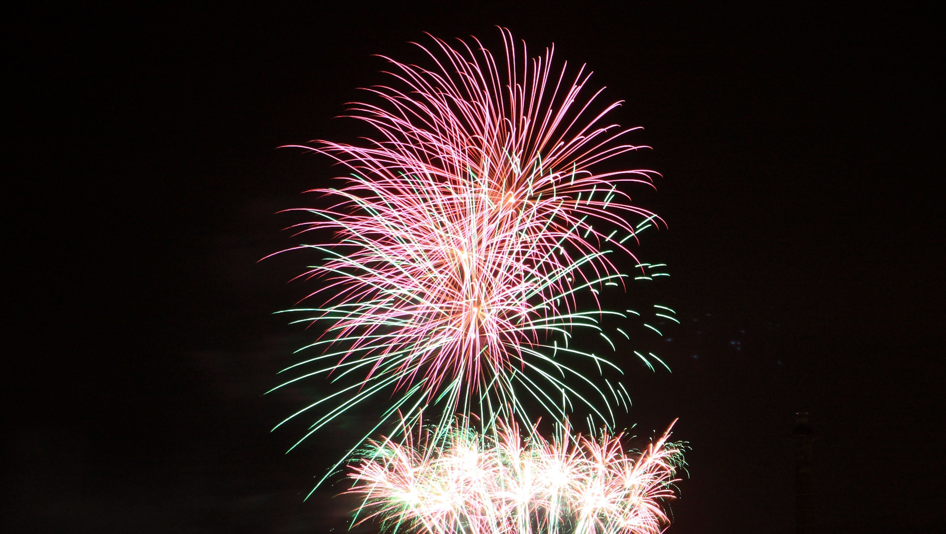 Fireworks above the River Tay in Perth.