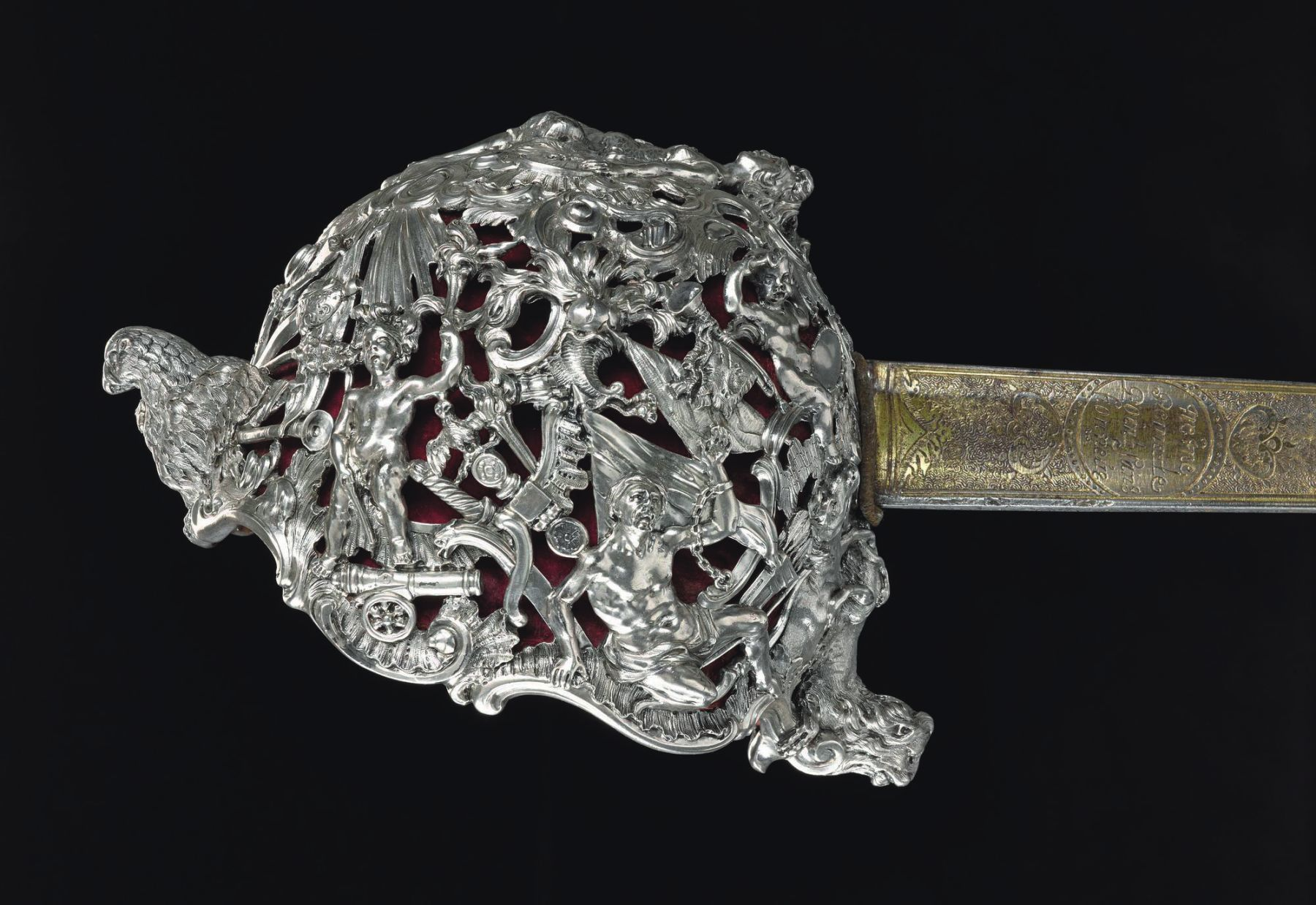 The intricately decorated sword borne by Bonnie Prince Charlie at Culloden.