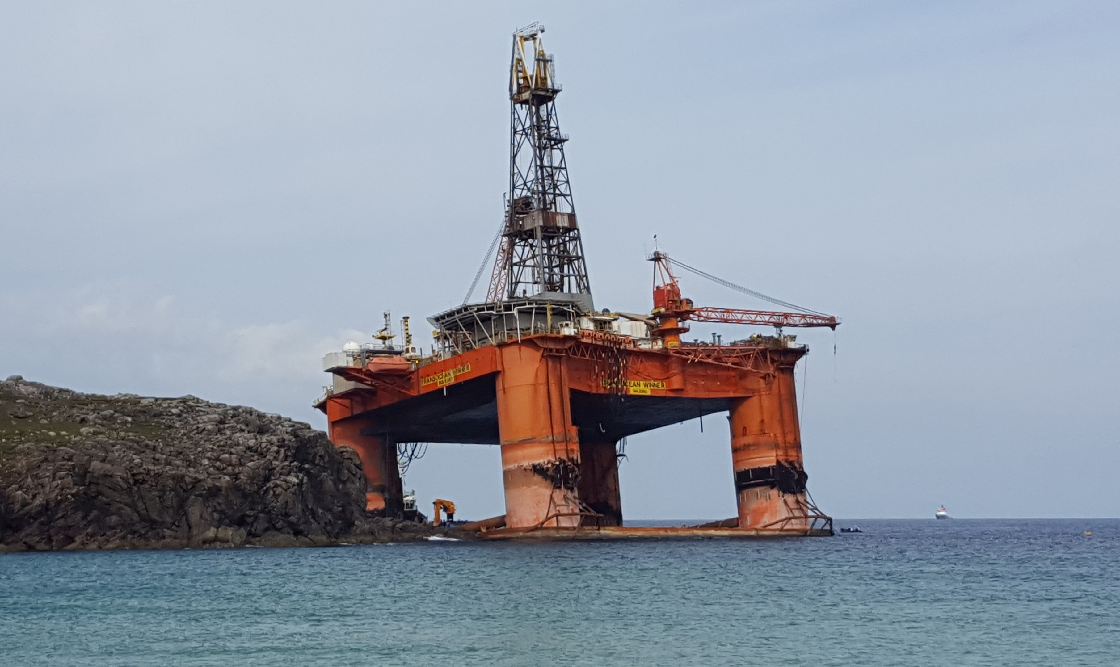 The Transocean Winner has been towed to Turkey from the UK to be decommissioned