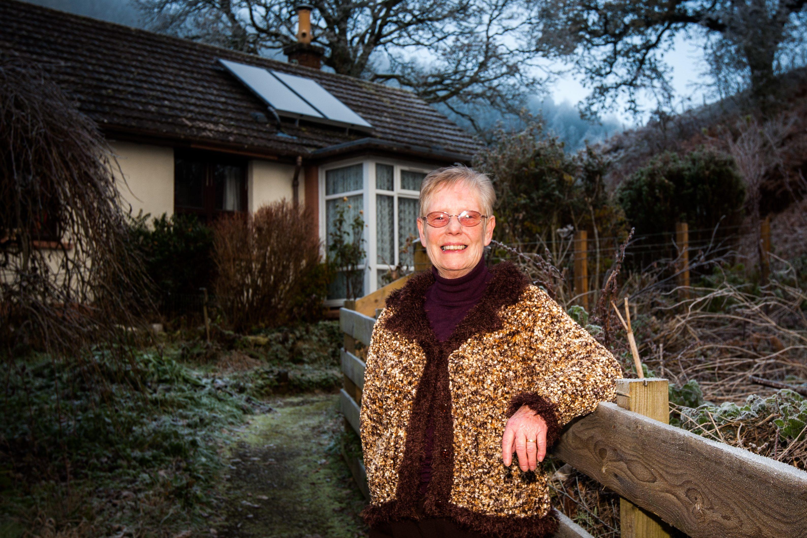 Linda Crookston at her Logierait cottage.