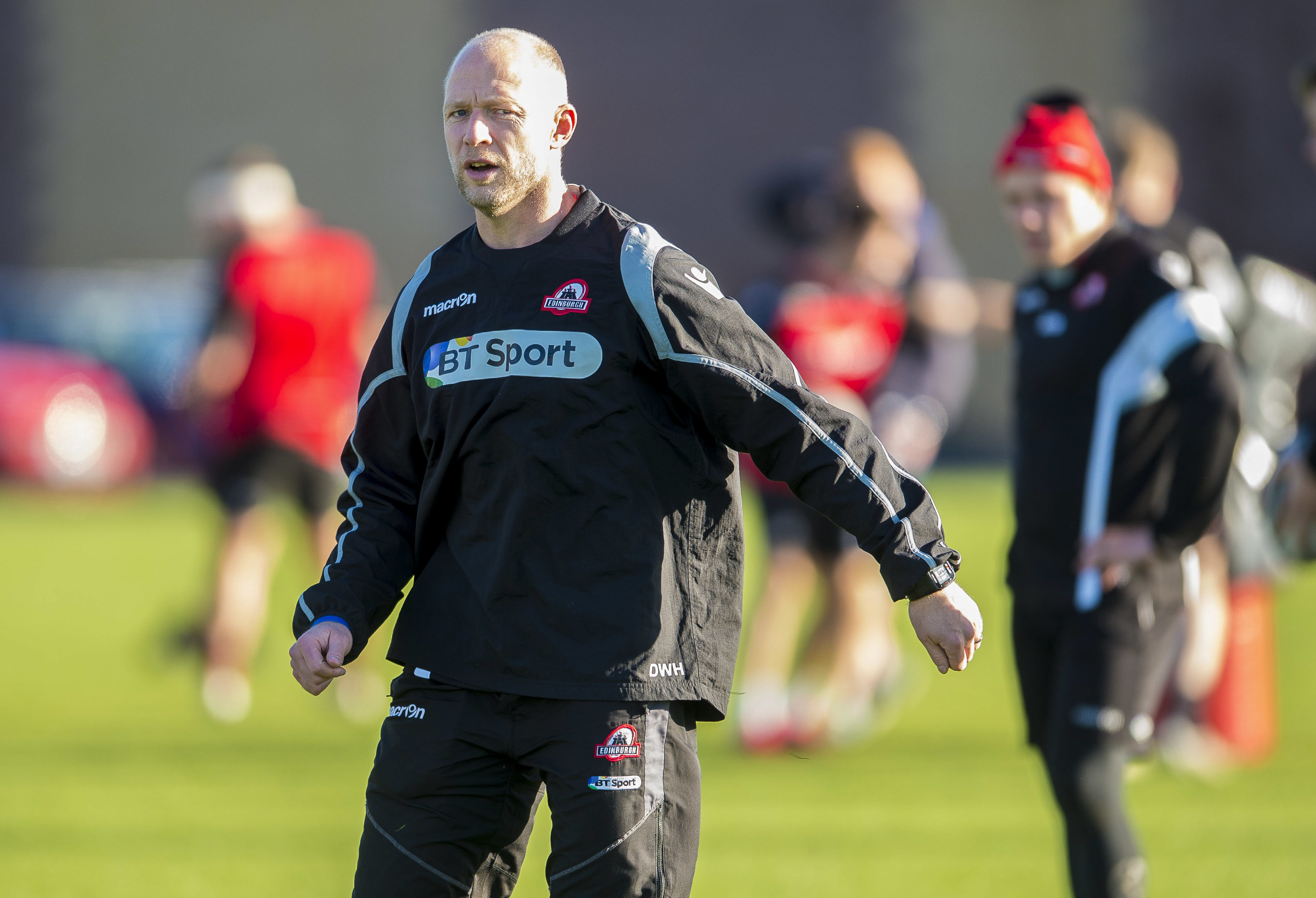 Edinburgh's acting head coach Duncan Hodge.