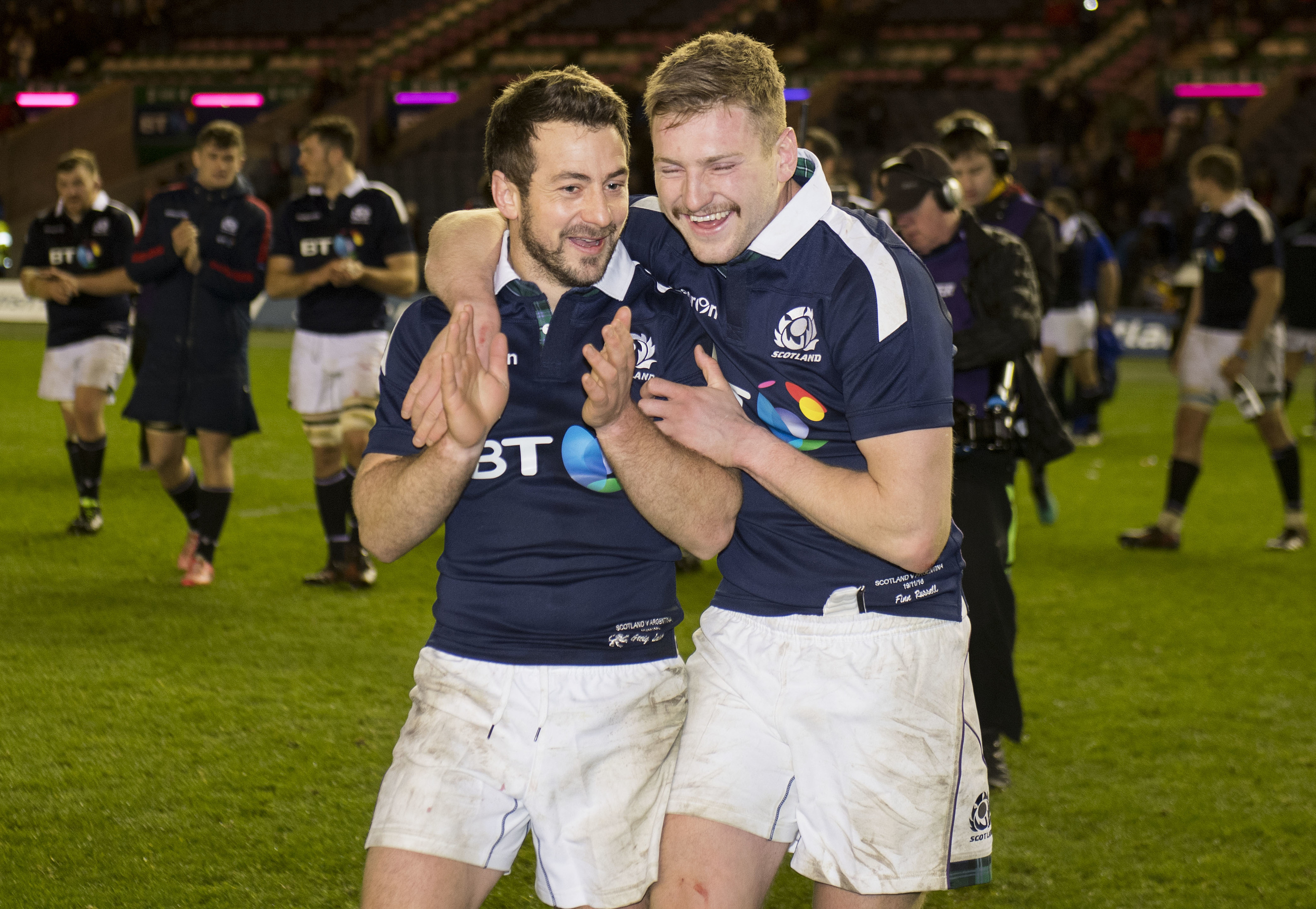 Finn Russell and Greig Laidlaw will get back toether to perfect their drop goal routine this week.