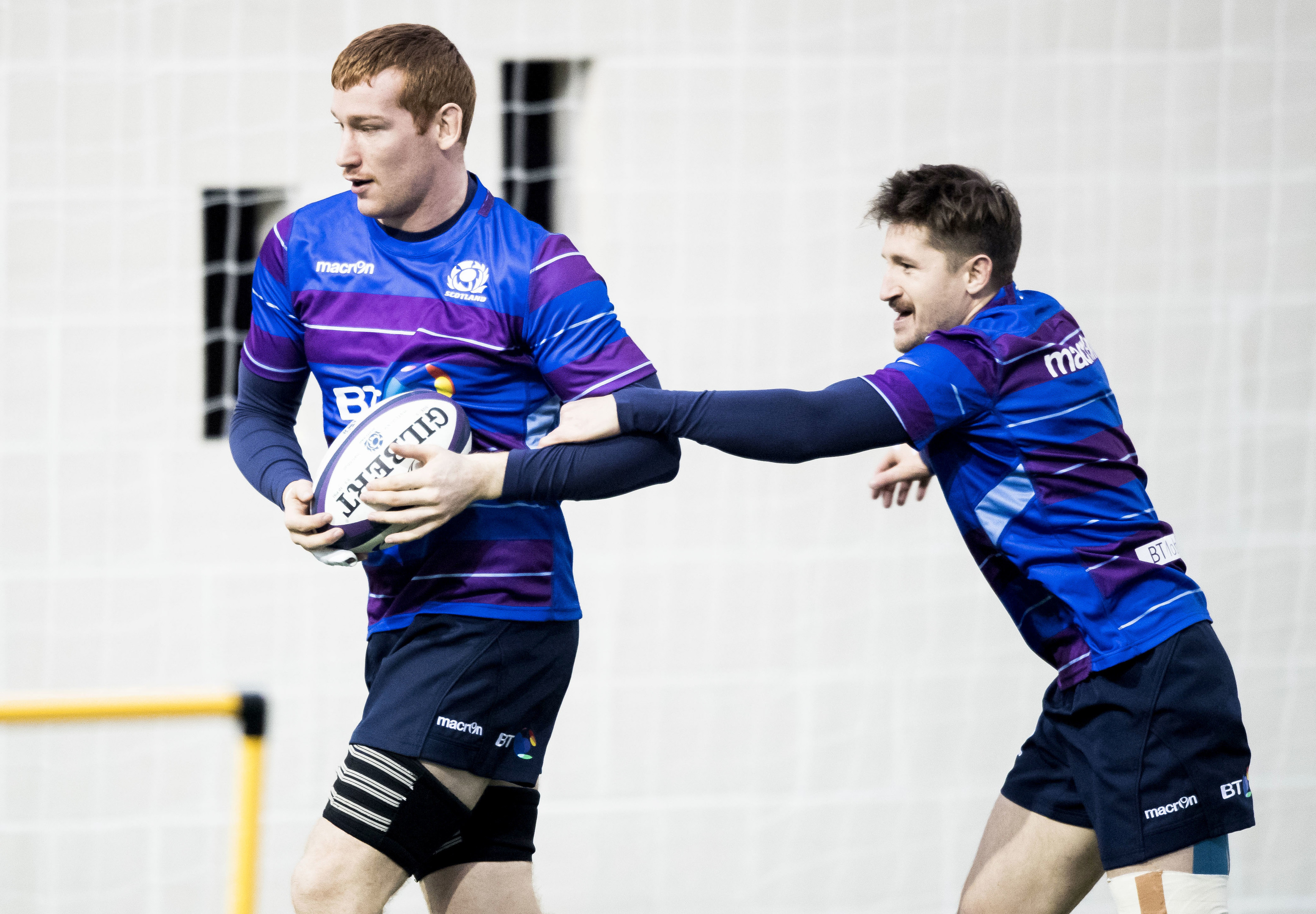 Rob Harley (left) has been brought in to boost Scotland's abrasive side against Georgia.