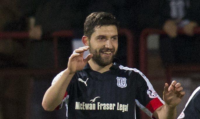 Kosta Gadzhalov celebrates his goal against Inverness last Saturday.