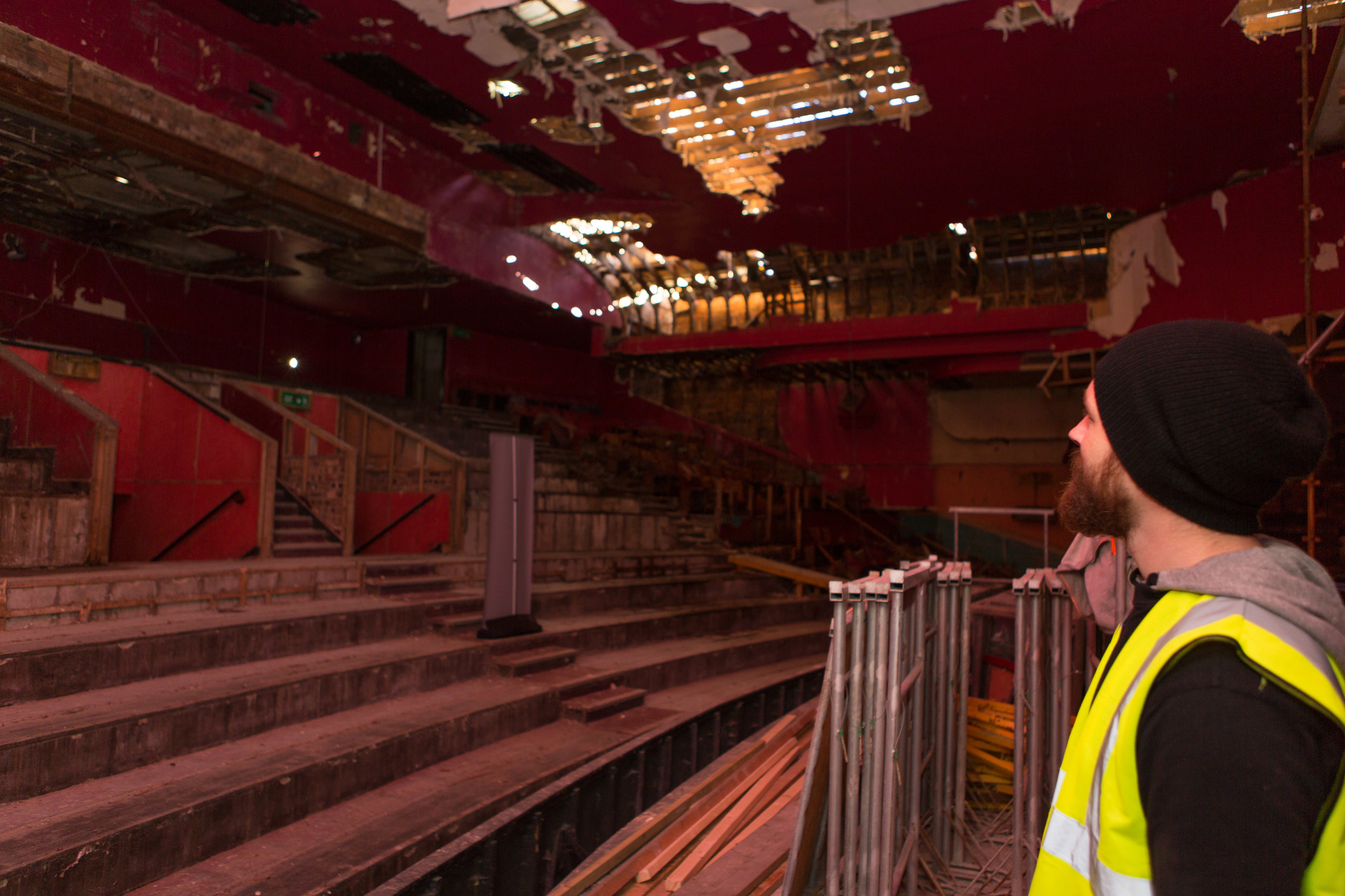 Work is well underway in stripping out the old ABC Cinema in Kirkcaldy.