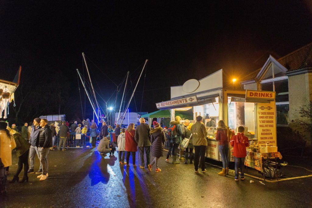 Falkland held its first ever Winter Festival in the village car park.