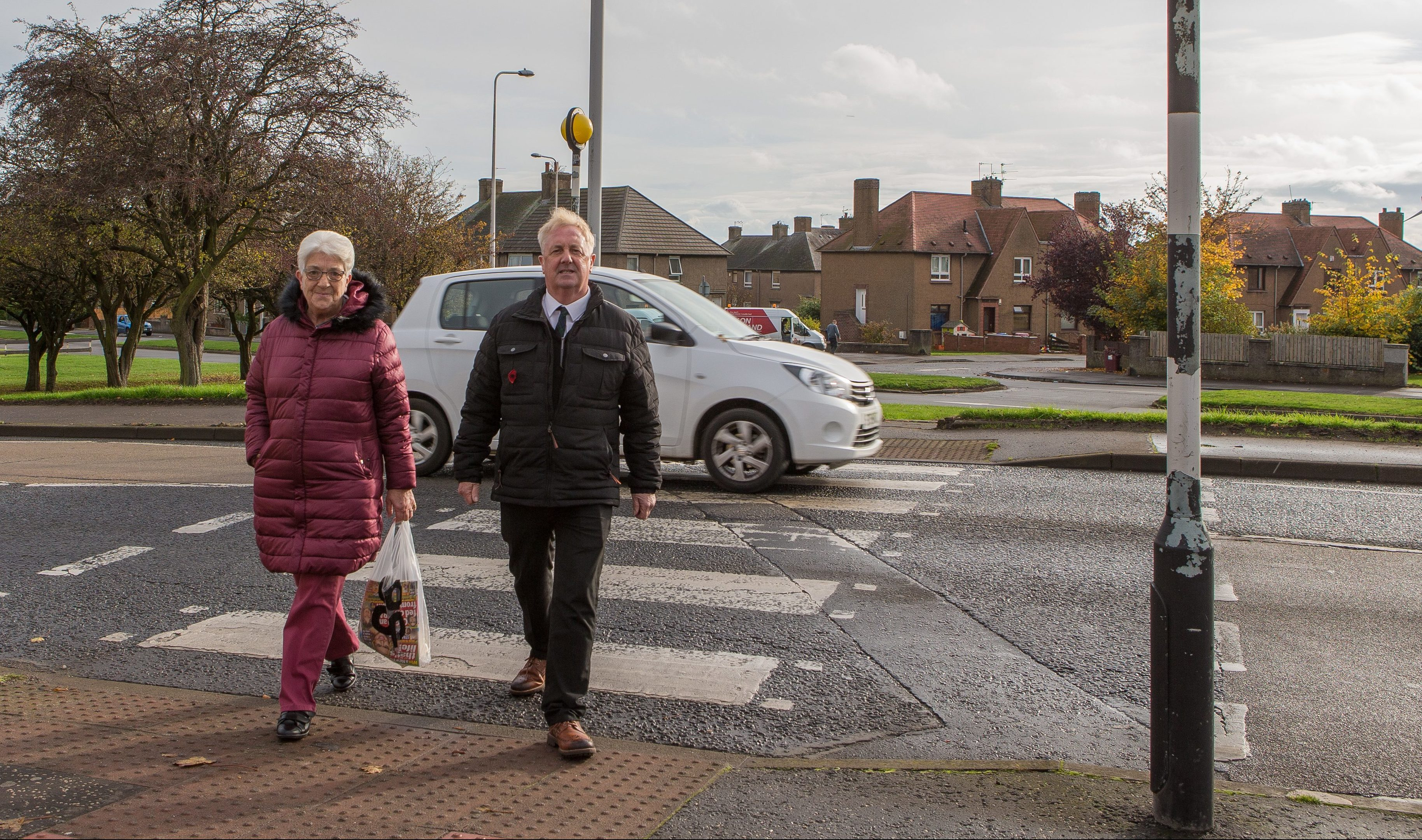 Councillor John O'Brien and local resident Nancy Wiseman are looking to possibly have the zebra crossings removed and replaced with Pelican Crossings where users can press a button to stop the traffic.