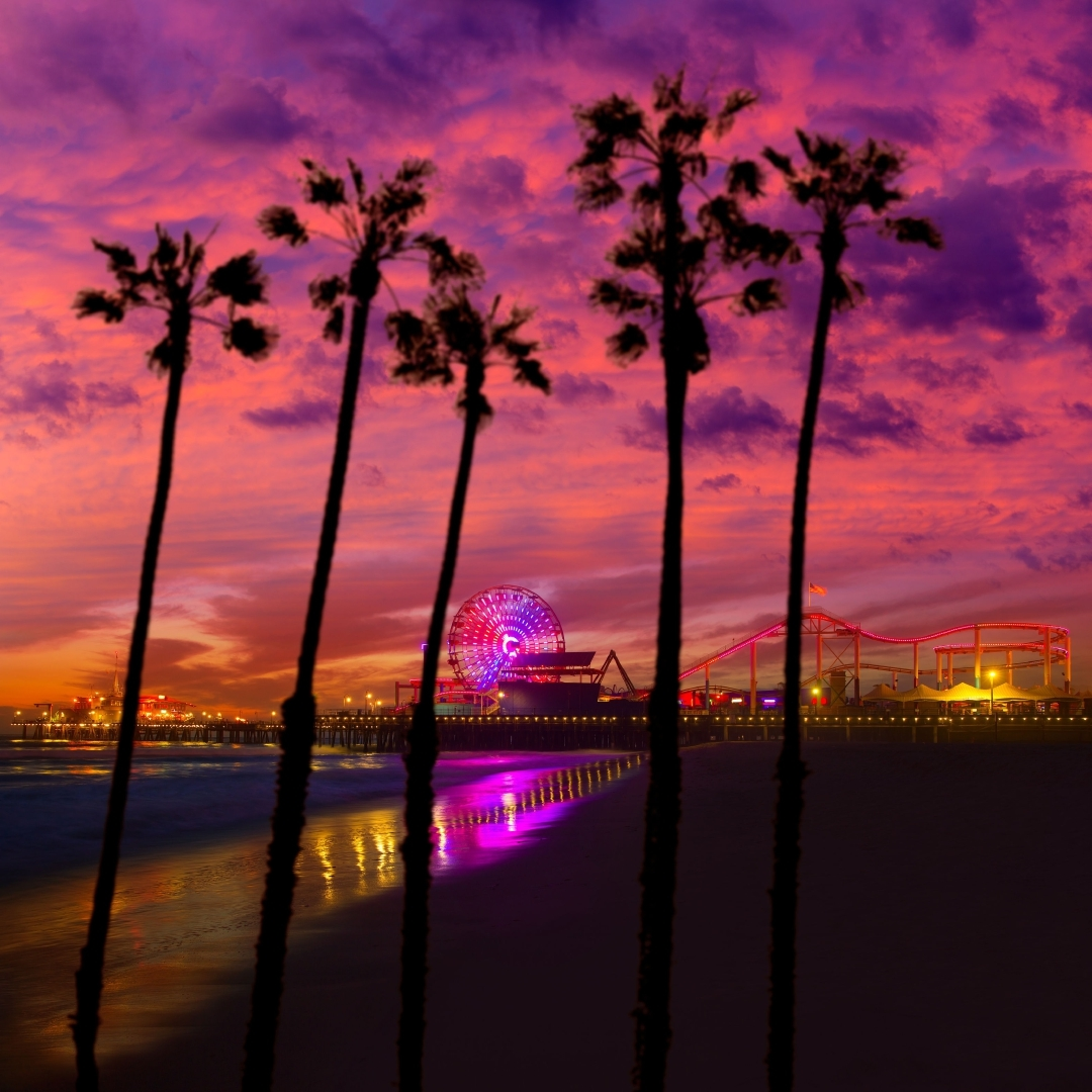 Santa Monica California sunset.