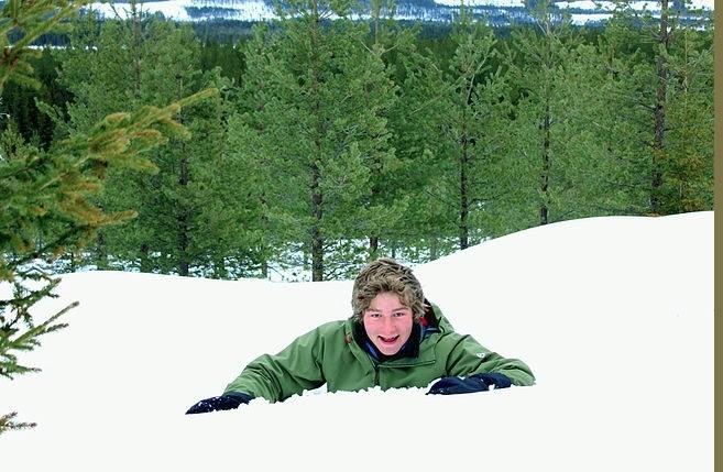 Courtesy of Zeki Basan. Picture taken from Zeki's blog shows; Zeki Basan in deep snow.