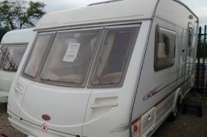 A caravan similar to the one stolen from Wormit on Friday night.
