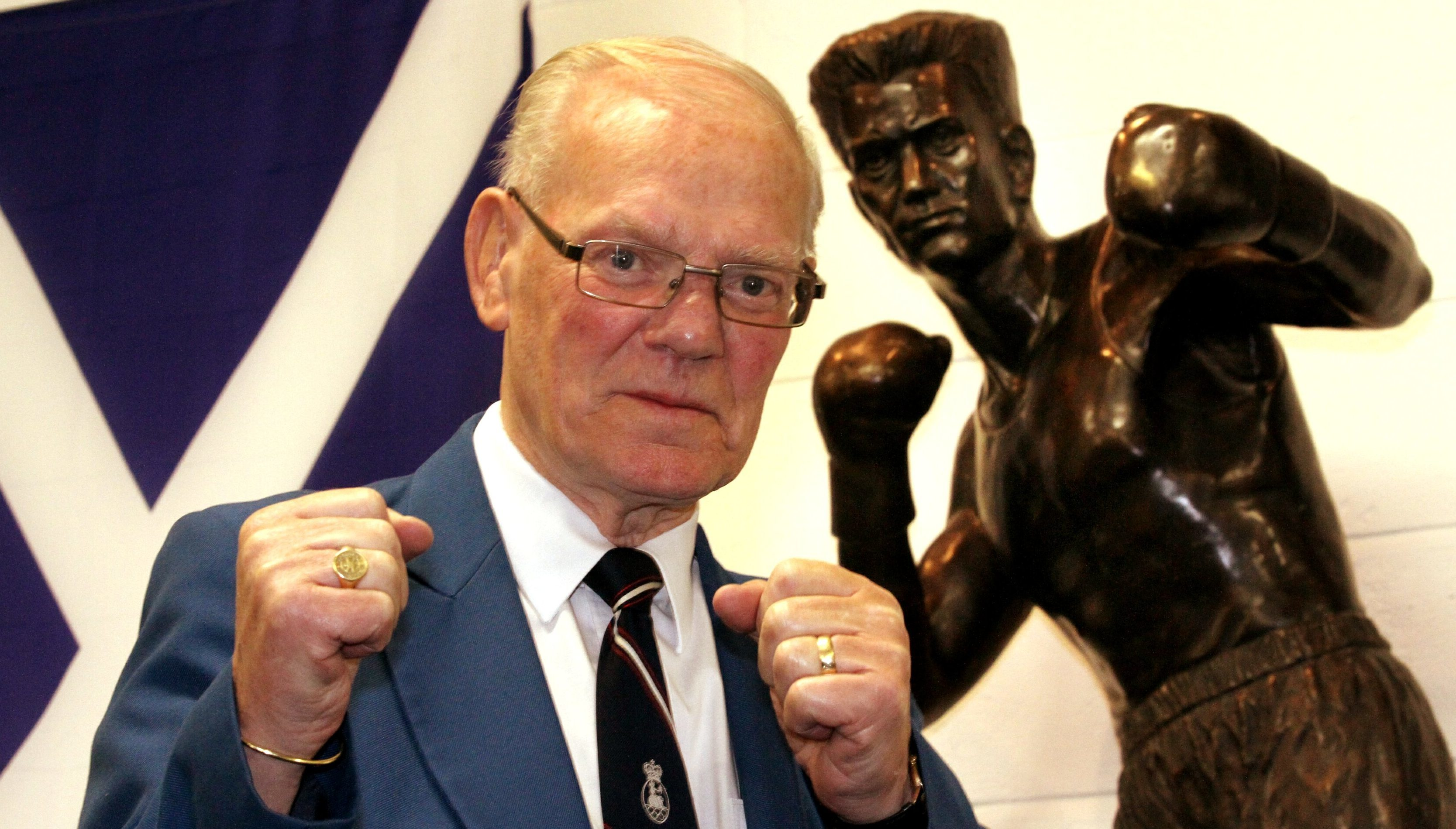 A statue of Dundee boxing legend Dick McTaggart  was unveiled last year at St Francis ABC Sporting Club in Dundee