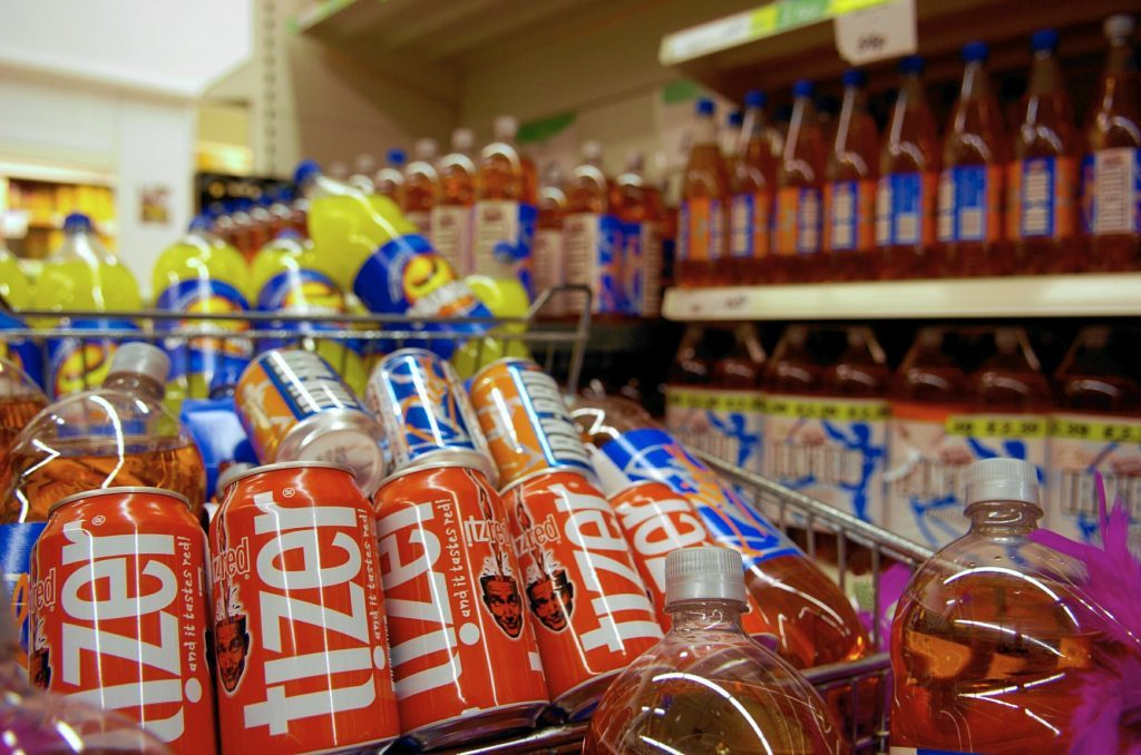 Fizzy drinks -a common site on our supermarket shelves